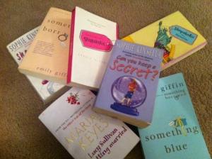 A snapshot of my chick lit bookshelf - many more on my Kobo