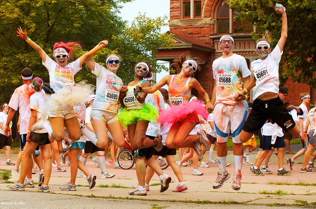 High on life at a colour run. Photo credit: memories_by_mike (Flickr)