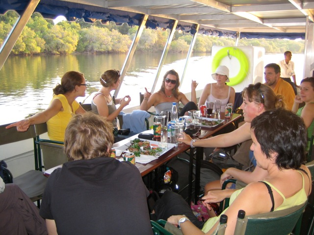 Boozin' and Cruisin' on the Zambezi river before the most delicious meal of the trip.
