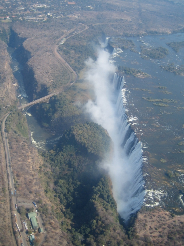 Victoria Falls by air. Yes, air. I rode in a helicopter!!!